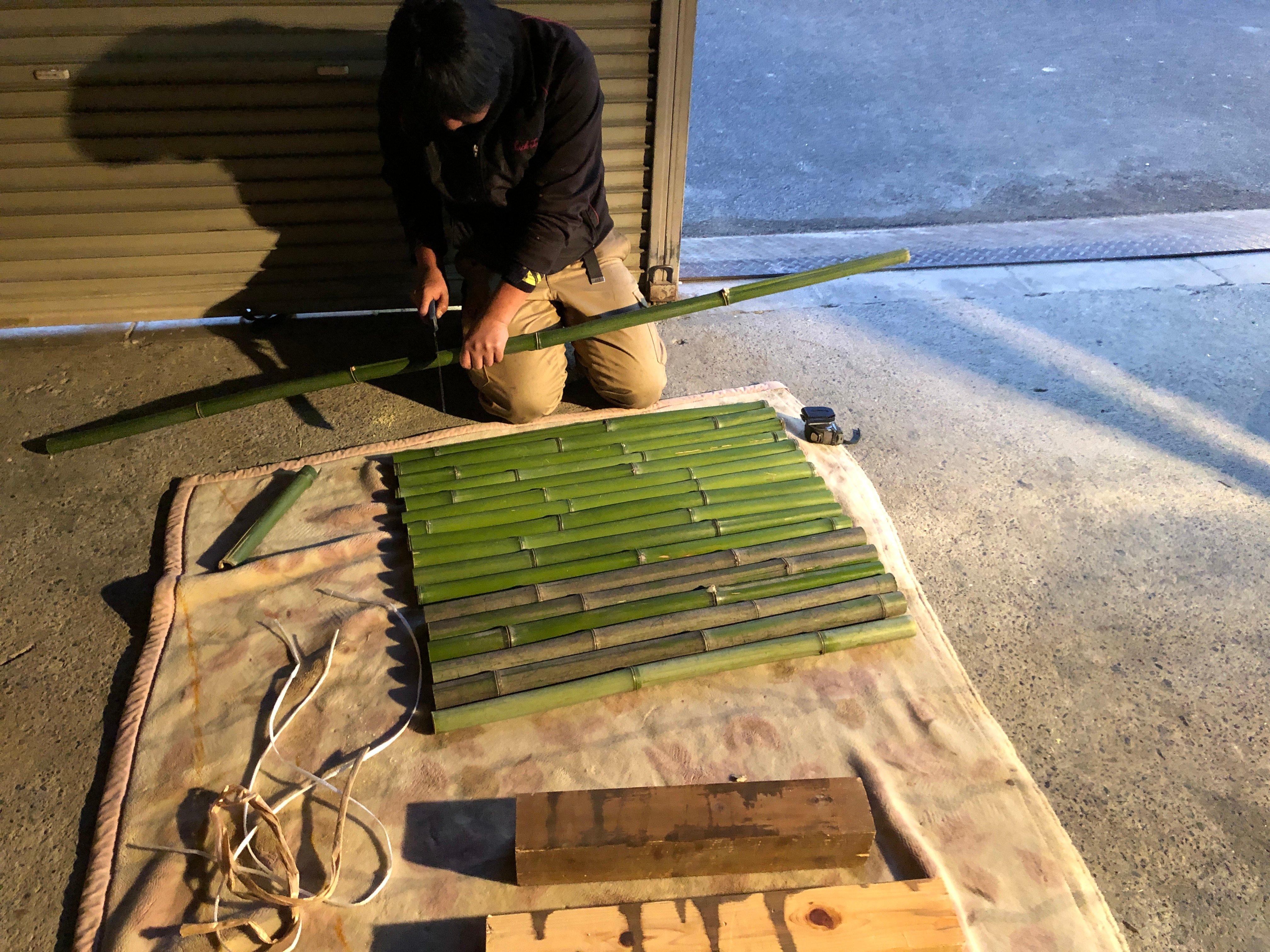 竹 井筒の蓋