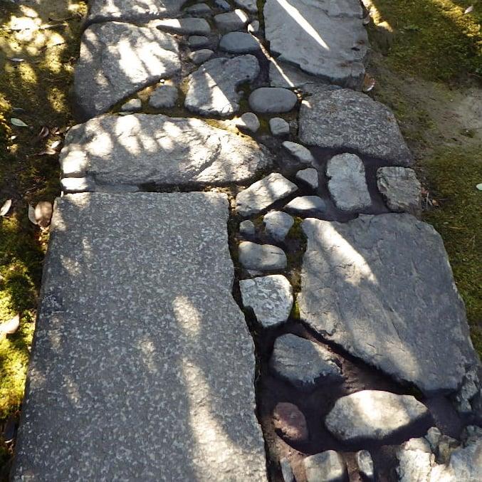 桂離宮 延段 自然石