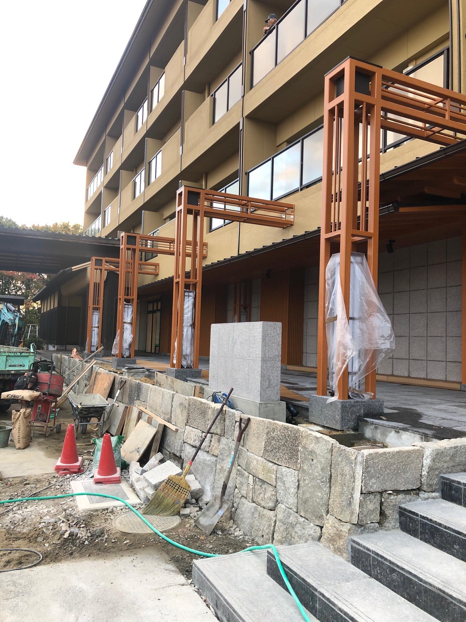 石積み 工事 旅館
